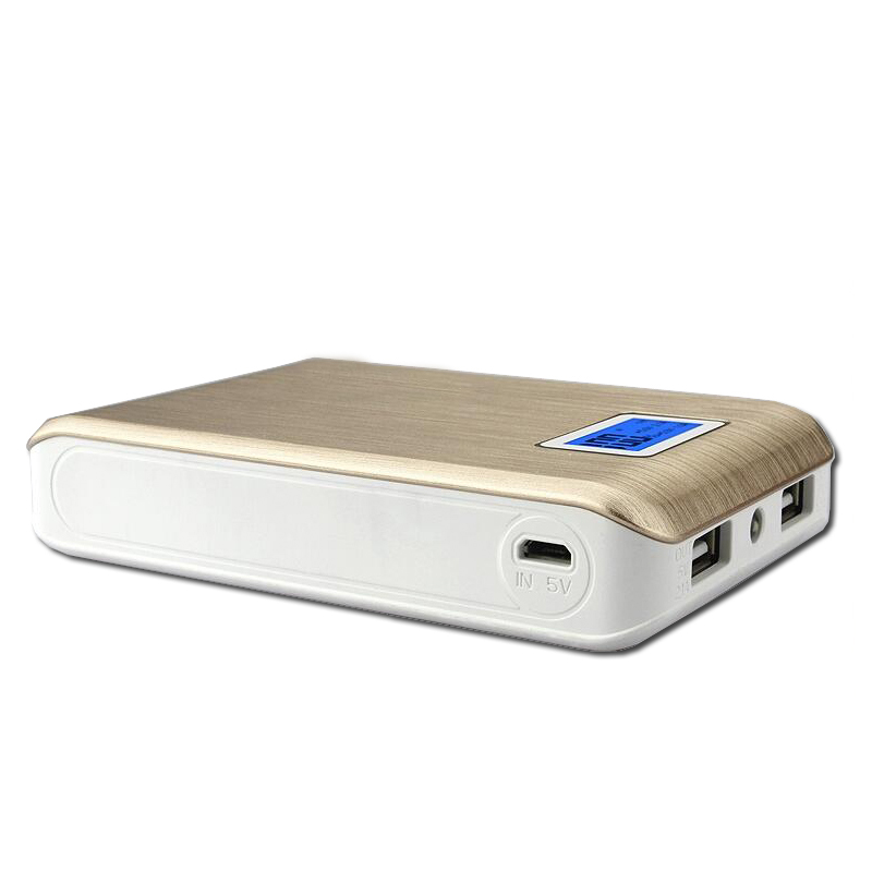 OEM LCD Power bank 10000mAh External Battery Portable Charger Silver and Gold Colors