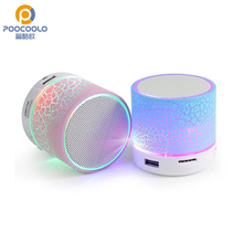 Mini LED Bluetooth Speaker with Loudspeakers Support TF Card function