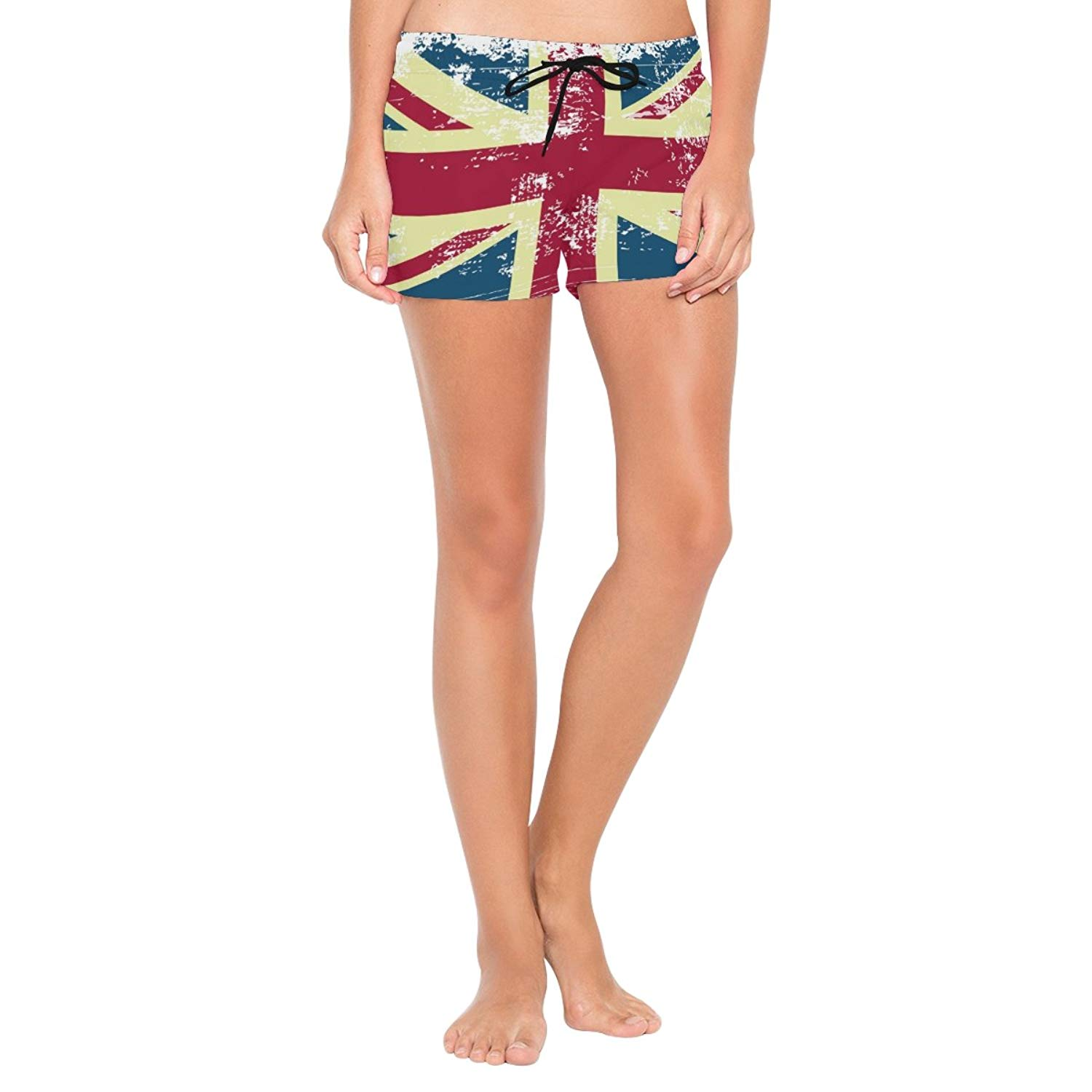 FullBo British UK Flag Little Boys Short Swim Trunks Quick Dry Beach Shorts