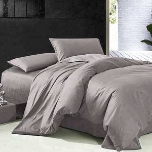 Hot selling cheap customized color luxury microfiber bed sheet set for home/hotel