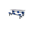 Foldable steel dining table for six people for garment factory