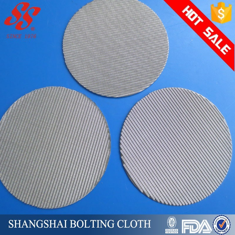 Food Grade 100 Micron Stainless Steel Mesh Filter Disc