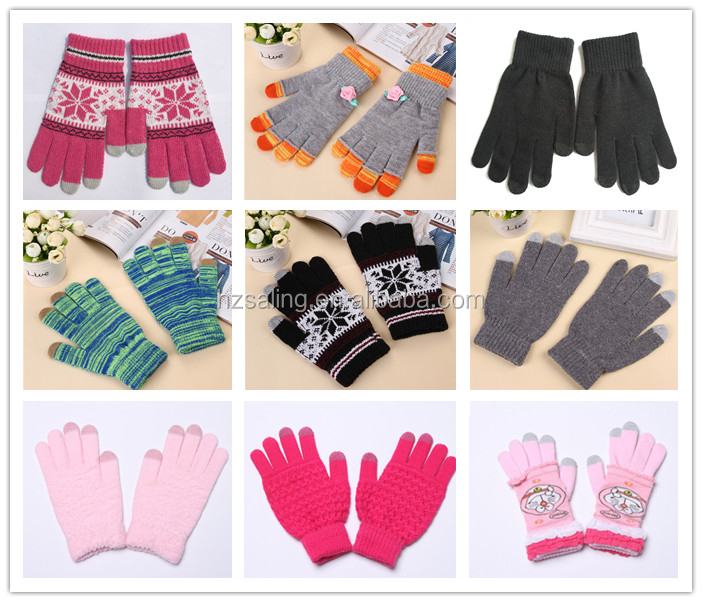 Women iPhone Winter Gloves iPad Smartphone glove Knitted Touch Screen Gloves