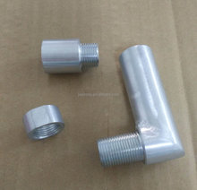 High Precision CNC machined steel o2 sensor adapter