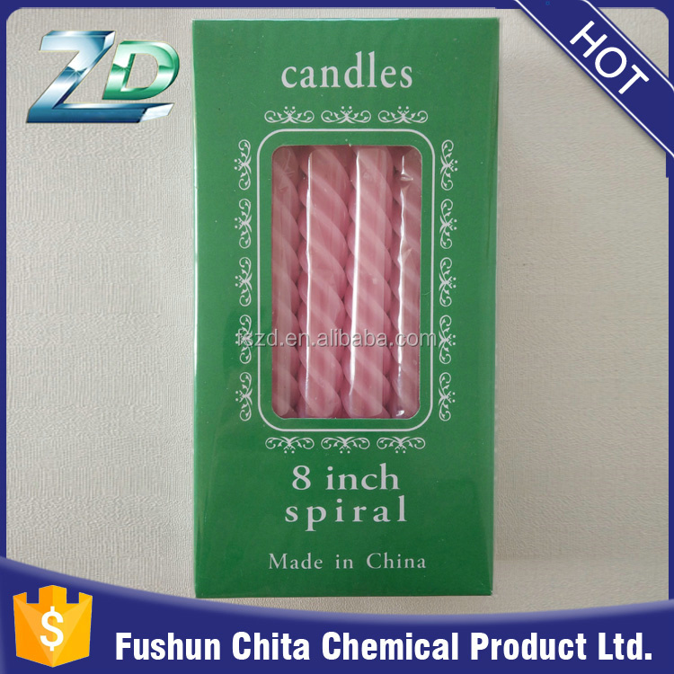 Chinese products sold taper spiral candle my orders with alibaba