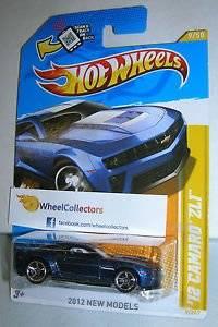 '12 Camaro ZL1 BLUE #9 New Models Card 2012 Hot Wheels C2