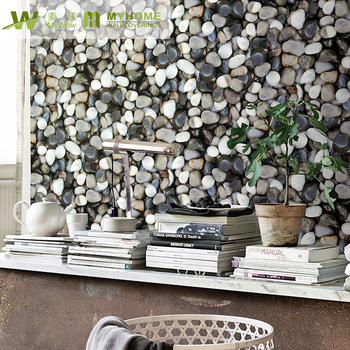 2019 New home decoration designs 3d brick stone bamboo wallpaper