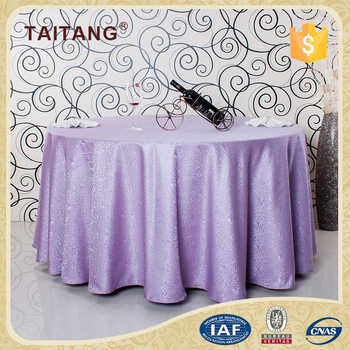 Custom Hand Embroidery Designs Purple Round Waterproof Dining Table Cloth