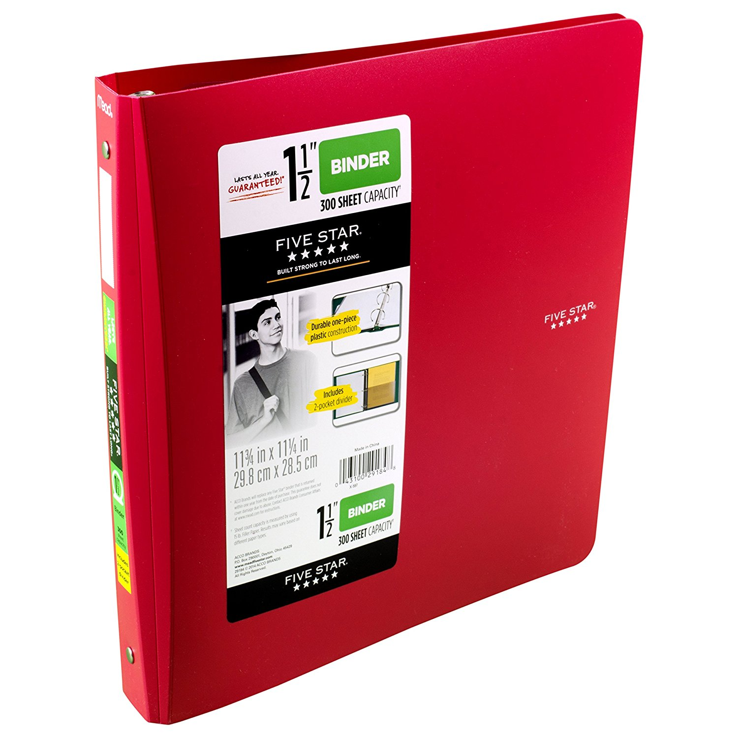 Get Quotations Five Star 1 2 Inch 3 Ring Binder Red 72133