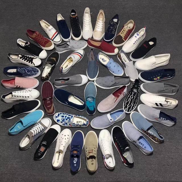 Cheap Sell Men Canvas Shoes Casual Stock Lots In China Shoes Manufacturer