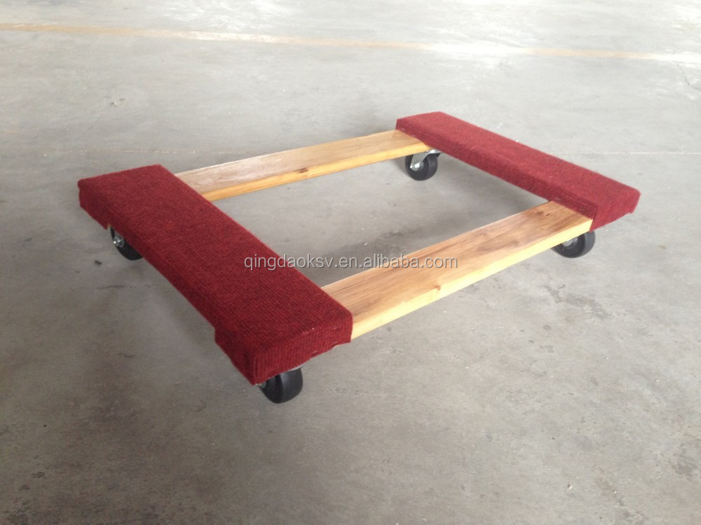 4 Wheel Wooden Pallet Dolly Tc4302 - Buy Wooden Dolly ...