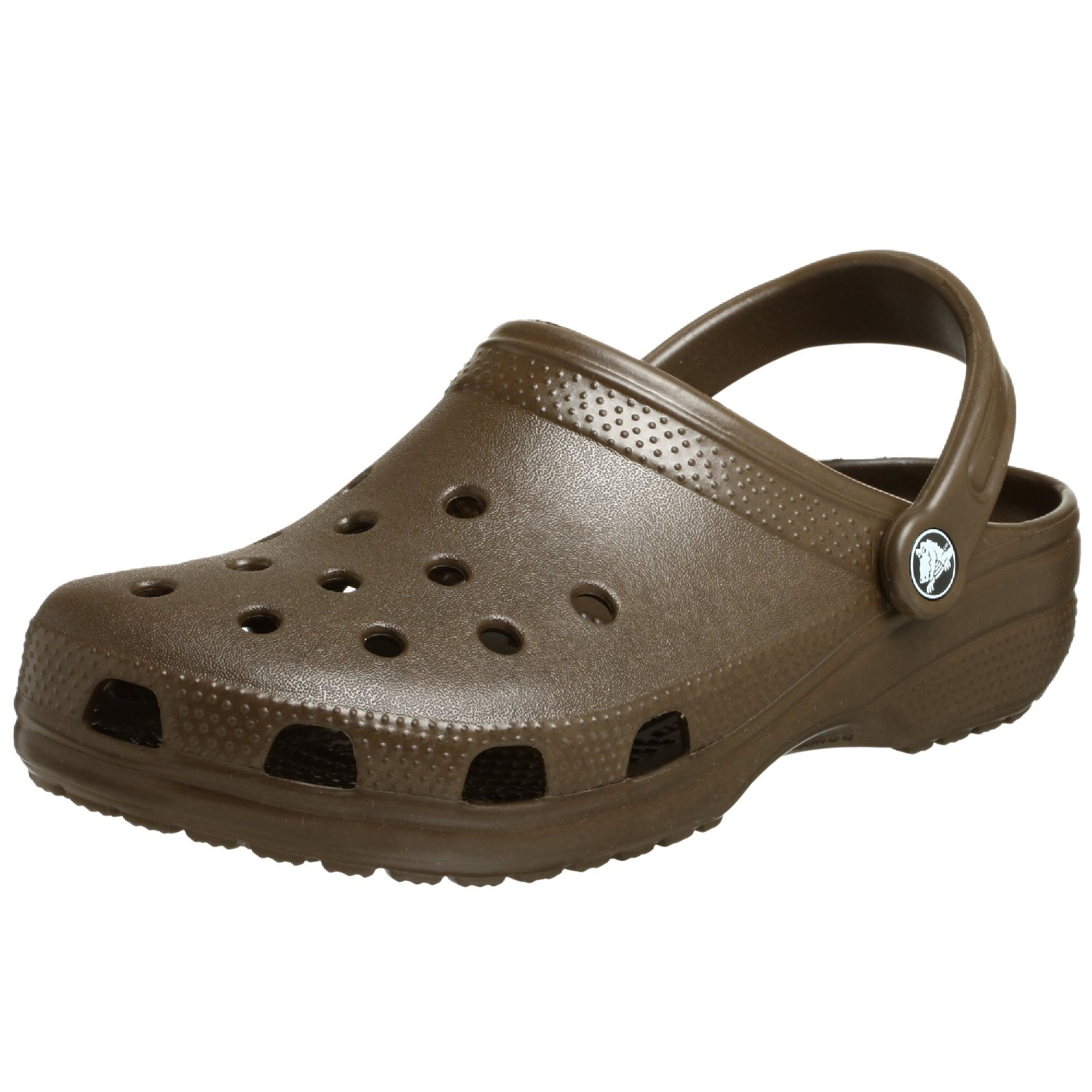 09408a1bf8ee7 Get Quotations · Crocs girls Crocs Ladies Classic Unisex Croslite  Breathable Strap Beach Clog Brown Brown UK Size 12