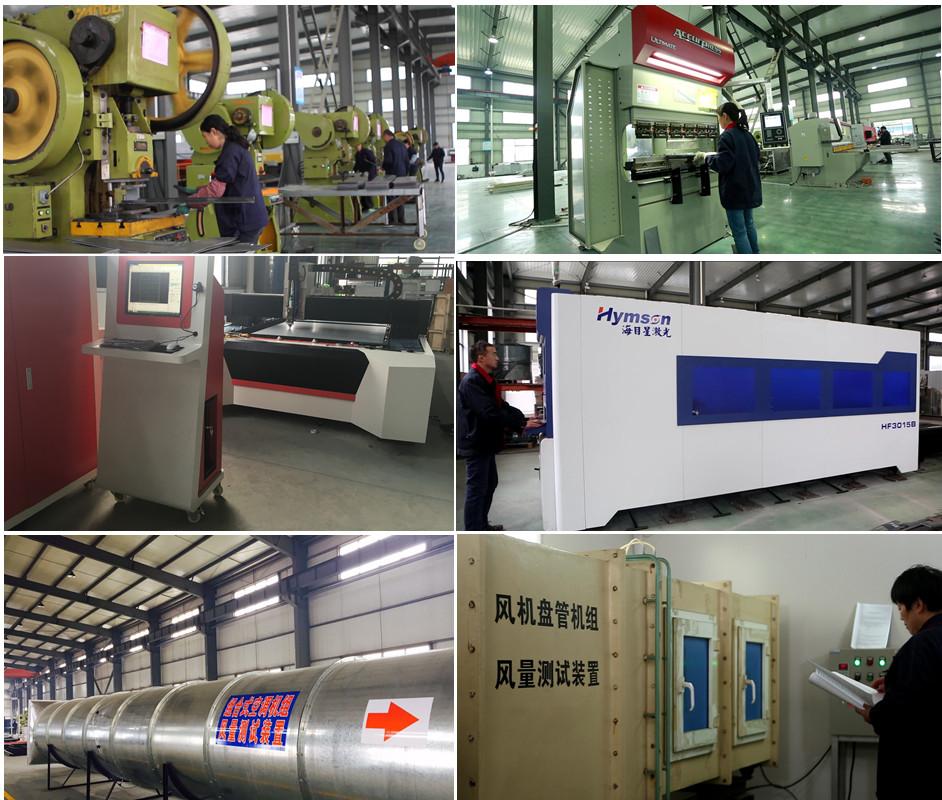 Baixo custo de 3000cfm unidade de tratamento de ar hvac máquina com certificado do Ce