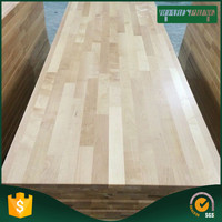 wholesale kitchen pine wood table top , waterfall edge countertop