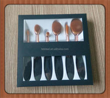 New Arrival 6Pcs Oval Makeup Brush kit, Oval Toothbrush Shape Makeup Brush