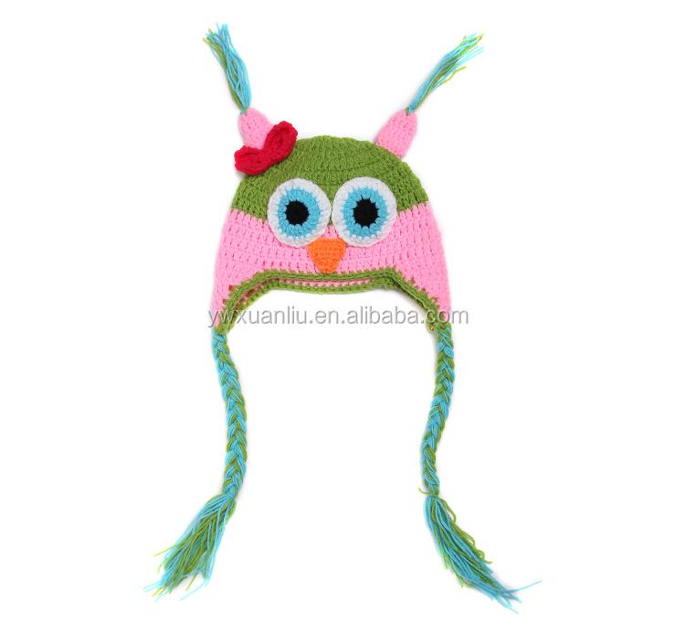 Venta al por mayor gorro crochet lechuza-Compre online los mejores ...