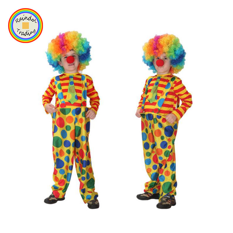 JHTL101 RDT kinderen Dag Podium Prestaties Kids Clown Cosplay Kostuum Set Jongens en Meisjes Halloween Maskerade Kostuum Sets