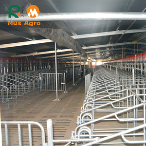 Pig farming equipment steel hog pen pig cage equipment sow crate gestating pen