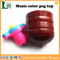 Music color space gyro electric spinning top with light peg top toy