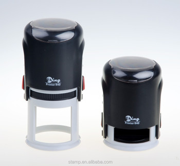 Office use rubber stamp Self Inking Stamps&Stamper&shiny Rubber Stamp Custom Logo Oval Stamp / Rubber Ink Round 40 mm