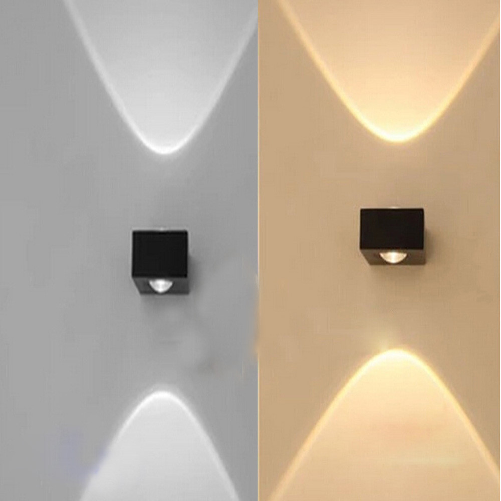Wholesale aluminum modern COB 6W bedroom LED wall lamp light ...