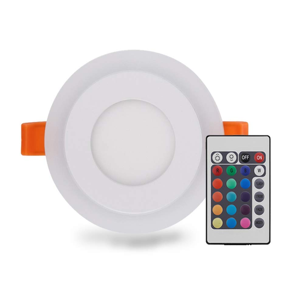 Ceiling Lights & Fans Lovely Recessed Color Changing Rgb Panel Lamp 3w Led Ceiling Down Light With Remote Control Home Family Day Decoration Sucking Lamp