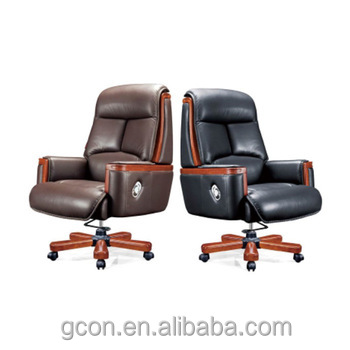High End Italian Upholstered Leather Recliner Office Chair Boss
