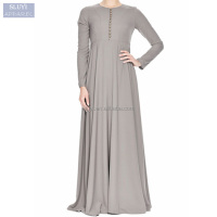 indian muslim dress for Women dresses maxi abayas Dubai Turkish ladies clothing pleated high waist muslim dress long sleeve