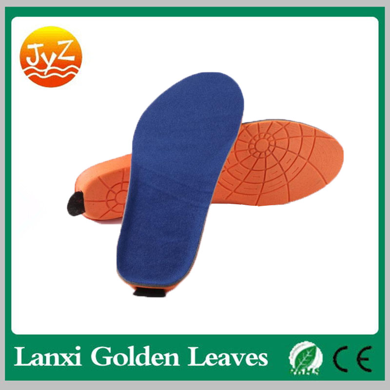 2017 New Rechargeable Built-in Li-battery Powered ortholite foam remote control Heated Insole