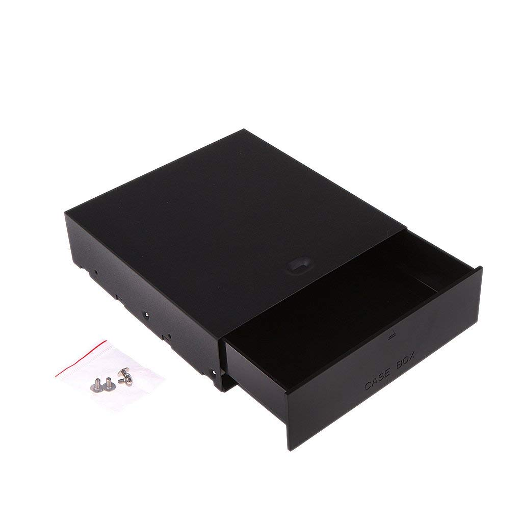 Fenteer Portable Drive Storage Drawer Box Tray w/ Screws for DVD/CD ROM PC Laptop