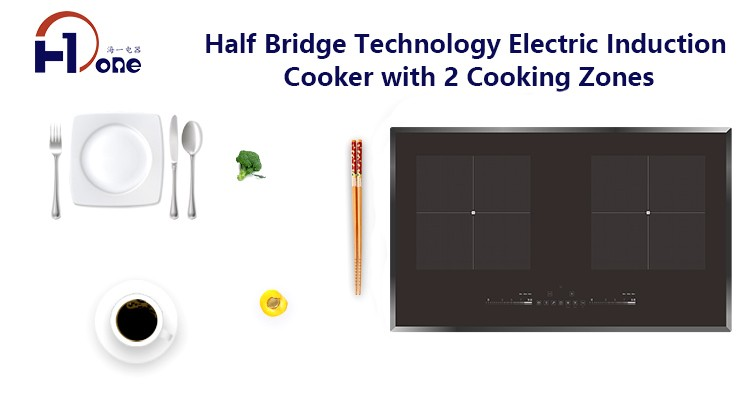 H-one Smart Built-in Induction Cooktop 2 Burners Customized Recipe Tuya App
