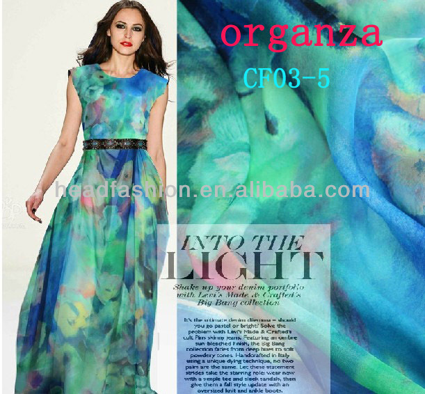 wholesale price hot fashion printed silk chiffon fabric for dress