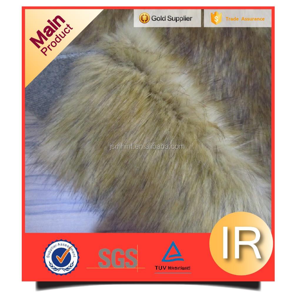 acrylic long pile fake fur wolf fabirc