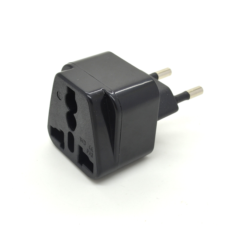 European plugs and sockets panel mount adapter usa us to eu europe ac wall power plug