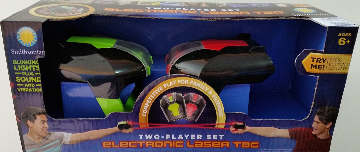 Smithsonian Two Player set Electronic Laser tag