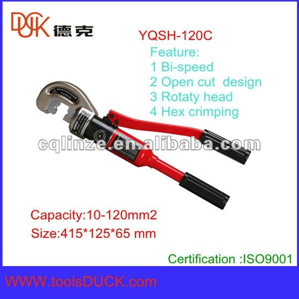 Bi speed one body oil pump hydraulic cable compression crimping tool