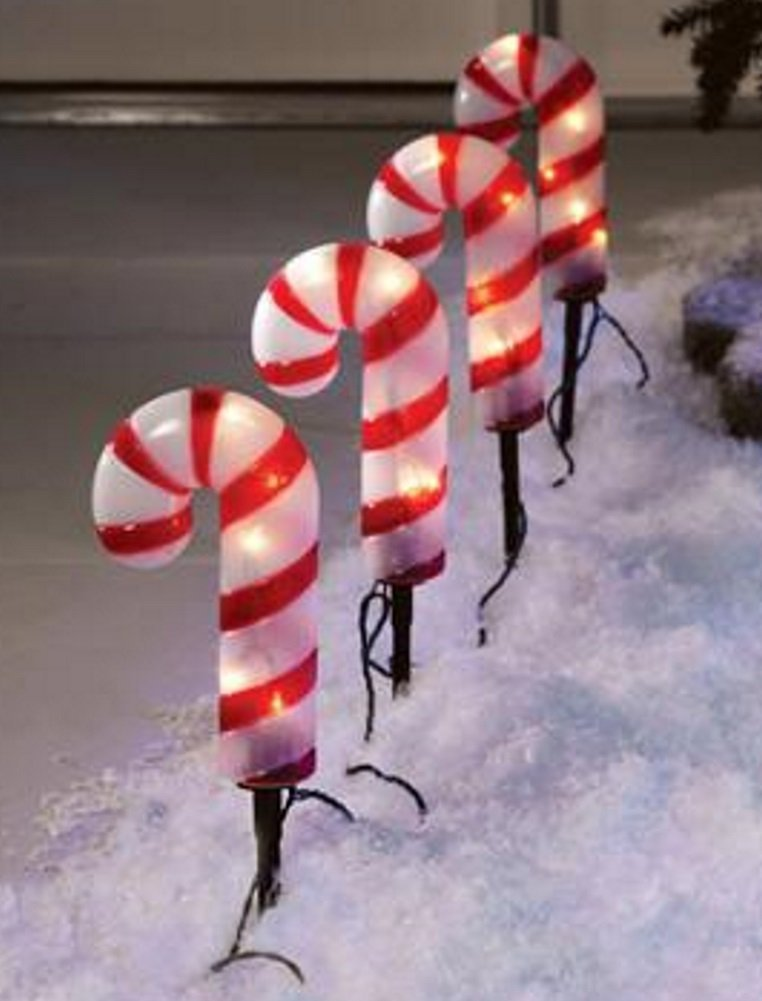 Outdoor Candy Cane Lights Cheap christmas lights candy find christmas lights candy deals on get quotations 4 christmas holiday candy cane pathway lights outdoor workwithnaturefo