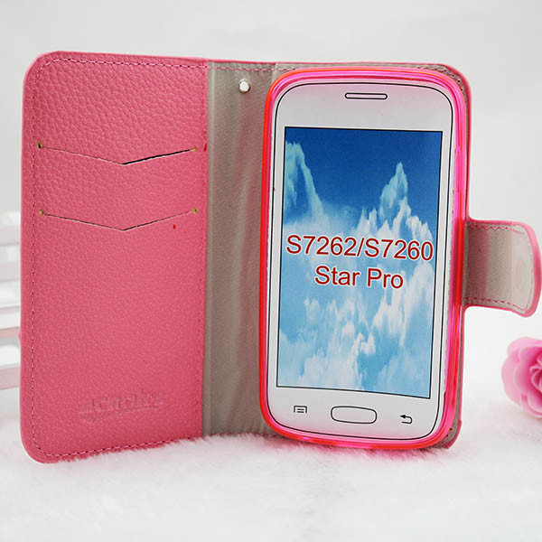 wholesale dealer 01784 578fb Wallet Flip Leather Case For Samsung Galaxy Star Pro Gt S7262 Cover - Buy  Case Cover For Samsung Galaxy Star Pro S7262,For Samsung Galaxy Star Pro ...