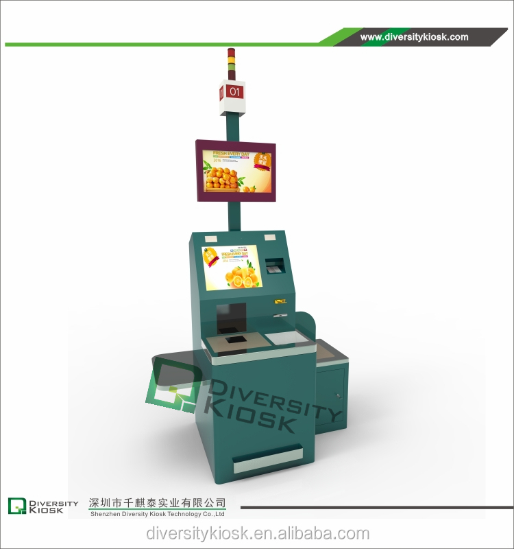 Chinese Supplier 19 Inch IR Touch Screen cash counter table display stand Patient Self Service Kiosks Payment by Paypal