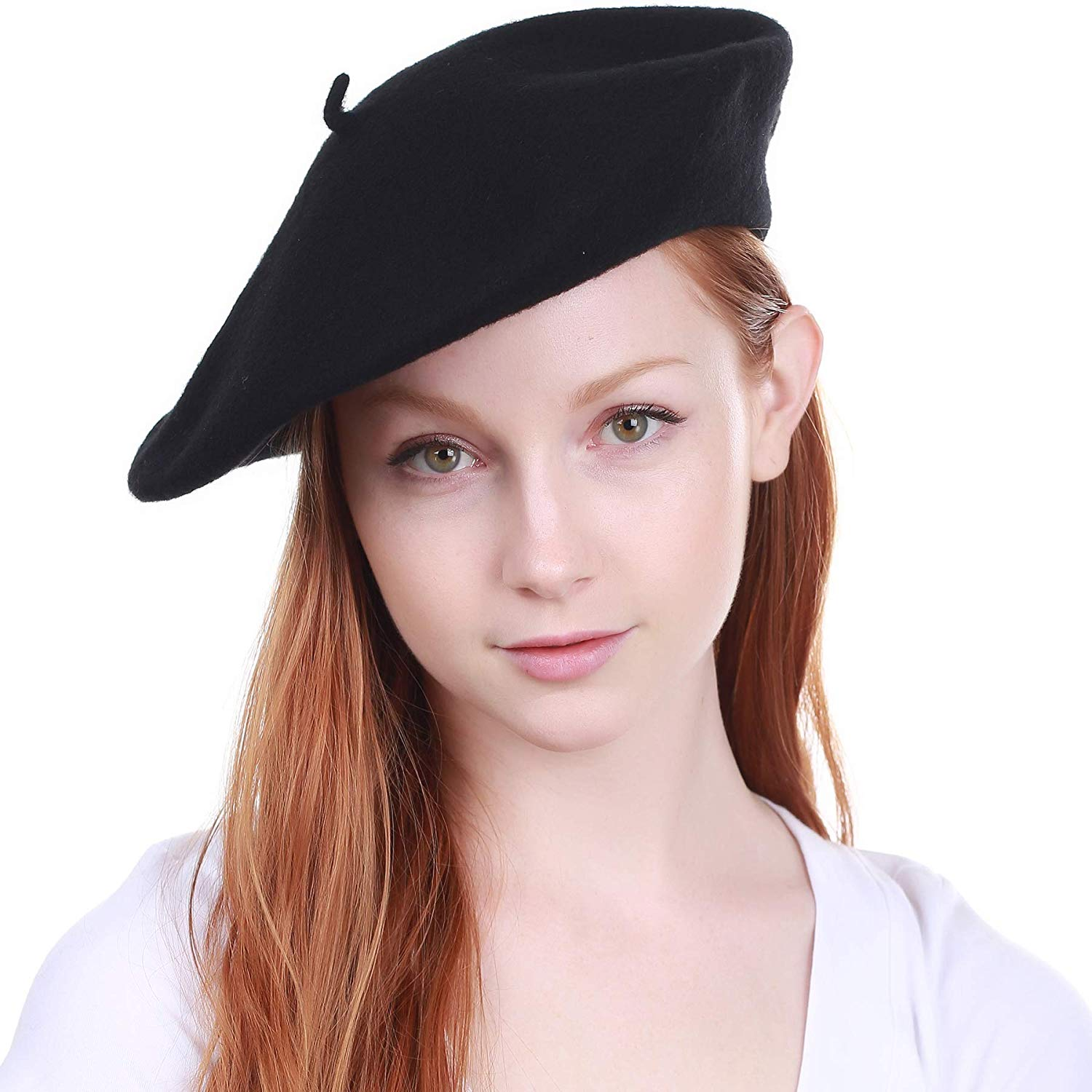 6edc1cb7baca0 Get Quotations · KBETHOS 100% Wool French Beret for Womens Solid Colors Mens