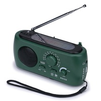 best hand crank cell phone charger Emergency Solar AM FM Radio with LED Flashlight for camping