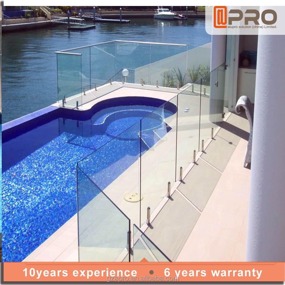 Vidrio piscina pasamanos de escalera exterior barandilla for Barandilla piscina