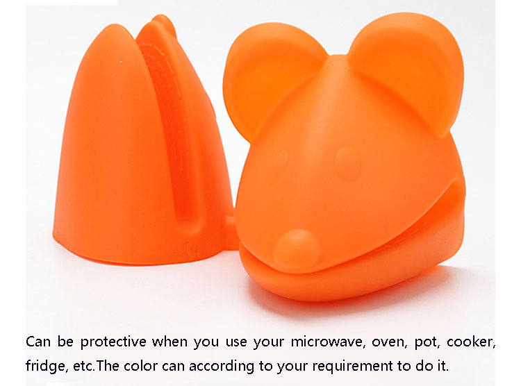 Wholesale eco-friendly custom cheap mouse animal shape silicone oven mitts