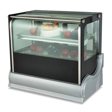 The Manufacture of 2 Layer Cake Display Refrigerator  Freezer  Glass Display Cake Showcase