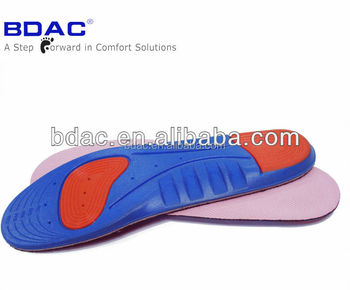 Comfort Pu foam sport insole arch support polyurethane insoles