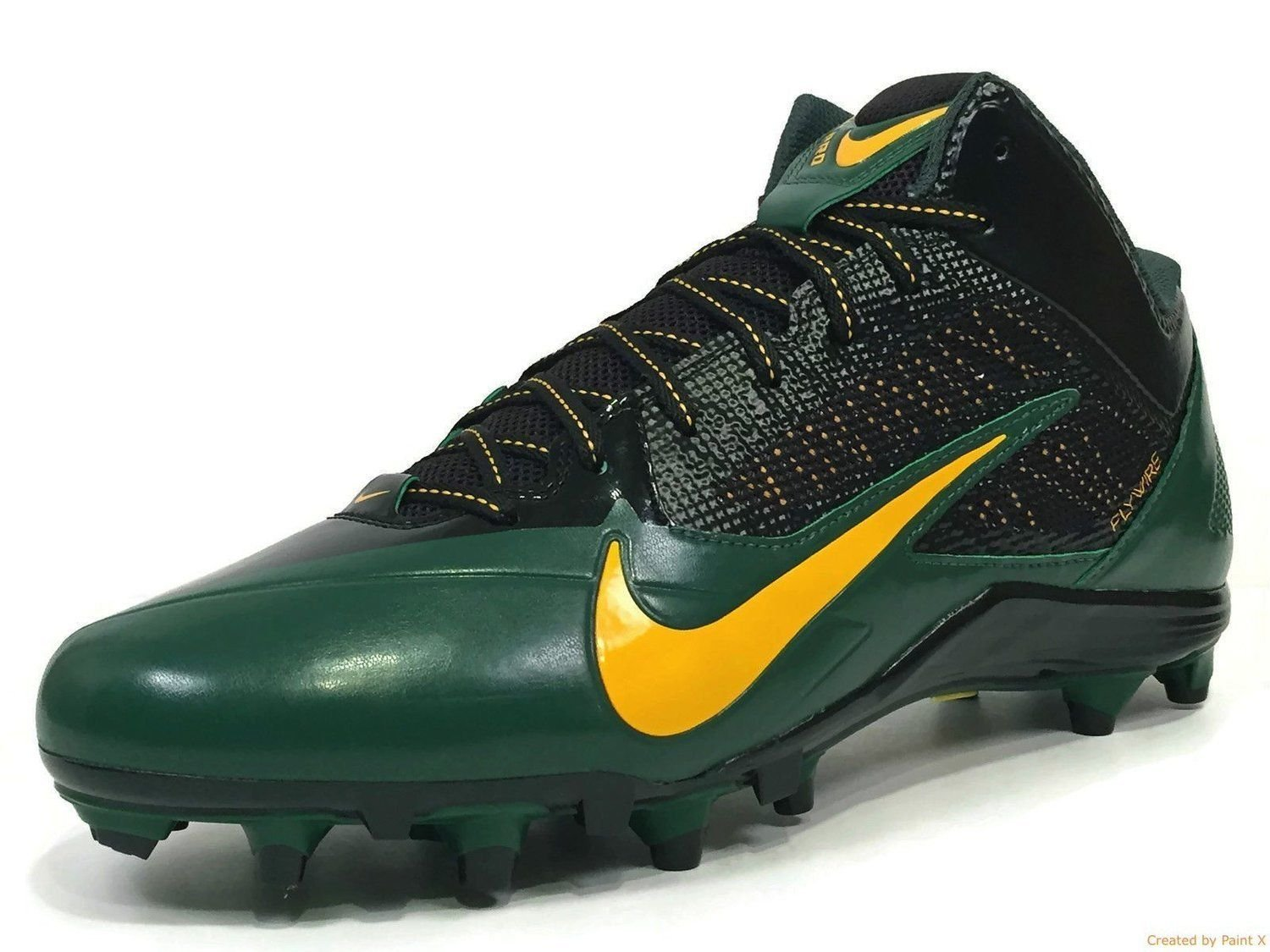 cheap for discount fd5be 26de4 Get Quotations · NFL GREEN BAY PACKERS NIKE MEN S ALPHA PRO TD SB LOW FOOTBALL  CLEATS GREEN YELLOW SIZE