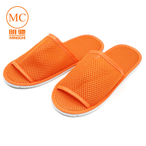 summer disposable mesh slippers for hotel