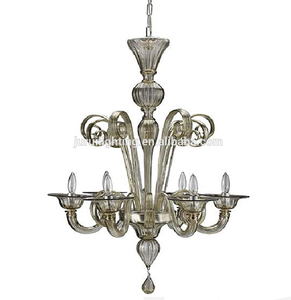 zhongshan sell classic Vintage smoke Color Murano Glass Chandelier for Home/Hotel Decoration