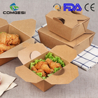 Paper Take Away Paper Box Hot Sale Custom Made Paper Fast Food Chips Fried Chicken Box Packaging Take Away Paper Food Packaging Lunch Box