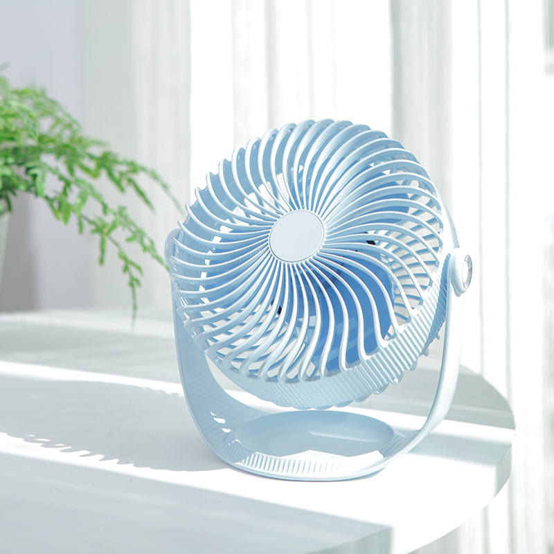 Super Cool Great Circle 360 Degrees Rotating Pink Desk Fan For Home